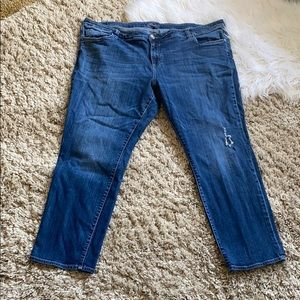 KUT FROM THE KLOTH cropped distressed jeans plus